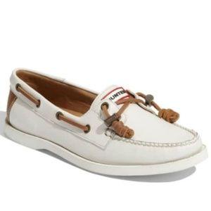 Hunter White Willemberg Boat Shoe